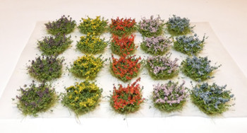HSS FB20 - Self Adhesive Medium Flowering Bushes (20) Colour Set A