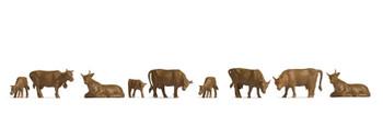 NOCH 18216 Brown Cows 00/HO Model Figures