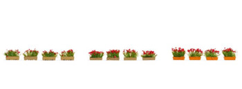 NOCH 14010 Flower Boxes (Red) 00/HO