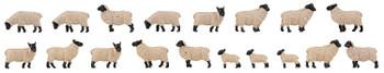 FALLER 151918 Black Headed Sheep (18) 00/HO Model Figures