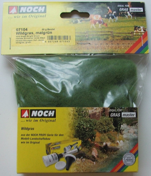 NOCH 07104 Wild Grass 6mm - Bright Green 50g