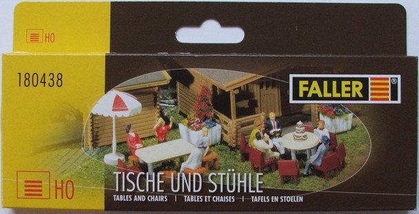 FALLER 180438 Table & Chairs 00/HO