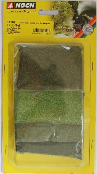 NOCH 07167 Leaf Foliage Set - Green