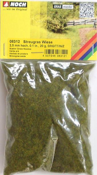 NOCH 08312 Static Grass 2.5mm Meadow 20g