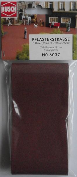 BUSCH 6037 Cobblestone Street (Self Adhesive) 1m x 66mm 00/HO