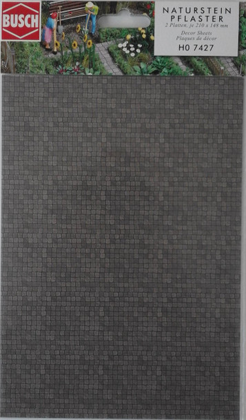 BUSCH 7427 Decor Card (Stone Pavement) 2 Sheets 210 x 148mm 00/HO