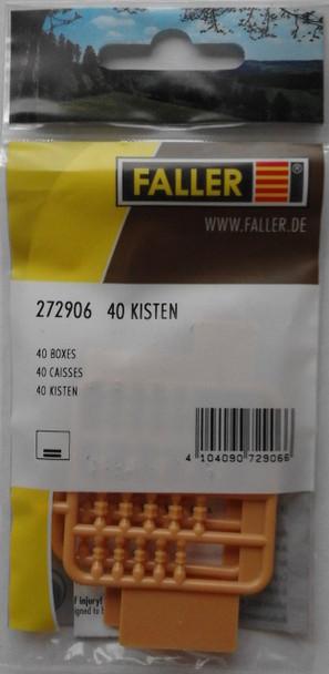 FALLER 272906 Boxes (40) 'N' Gauge Plastic Model Accessories