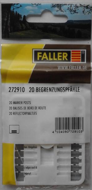 FALLER 272910 Marker Posts (20) 'N' Gauge Plastic Model Accessories