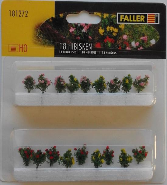 FALLER 181272 Hibiscus (18) 00/HO Model Plants