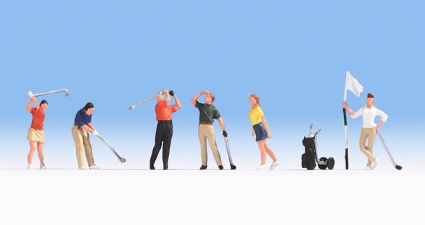 NOCH 15885 Golfers 00/HO Model Figures