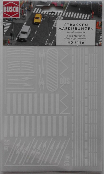 BUSCH 7196 Assorted Road Markings 00/HO