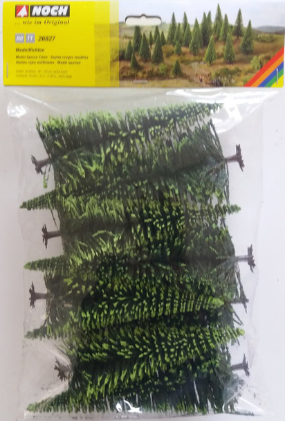 NOCH 26827 Spruce Trees 16cm - 19cm (10) 00/HO Gauge