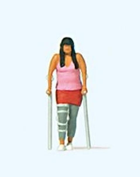 PREISER 28216 Lady With Broken Leg 00/HO Model Figure