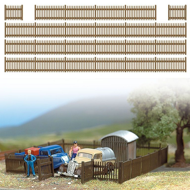 BUSCH 6007 Picket Fence With Gates 120cm 00/HO