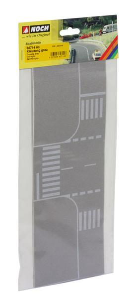 NOCH 60714 Self Adhesive Light Grey Crossing With European Markings 00/HO