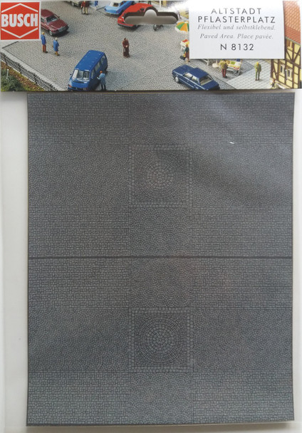 BUSCH 8132 Paved Area (Self Adhesive) 20cm x 16cm 'N' Gauge