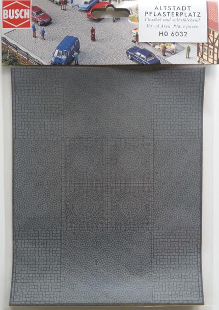 BUSCH 6032 Paved Area (Self Adhesive) 20cm x 16cm 00/HO Gauge