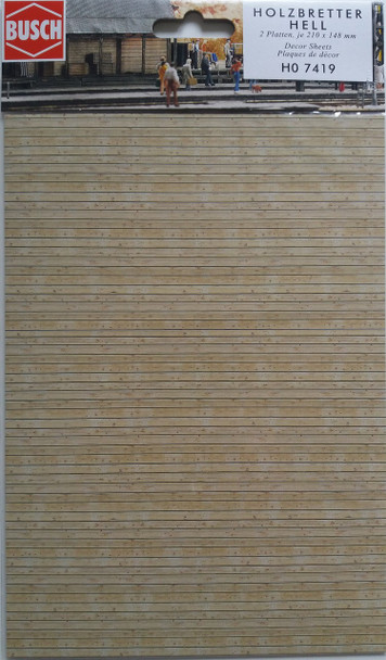 BUSCH 7419 Decor Card (Timber Planks) 2 Sheets 210 x 148mm 00/HO