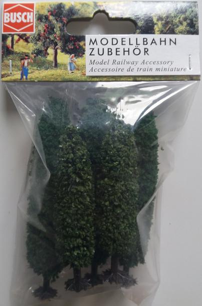 BUSCH 6228 Popular Trees (5) 7.5cm - 9.5cm 'N' Gauge