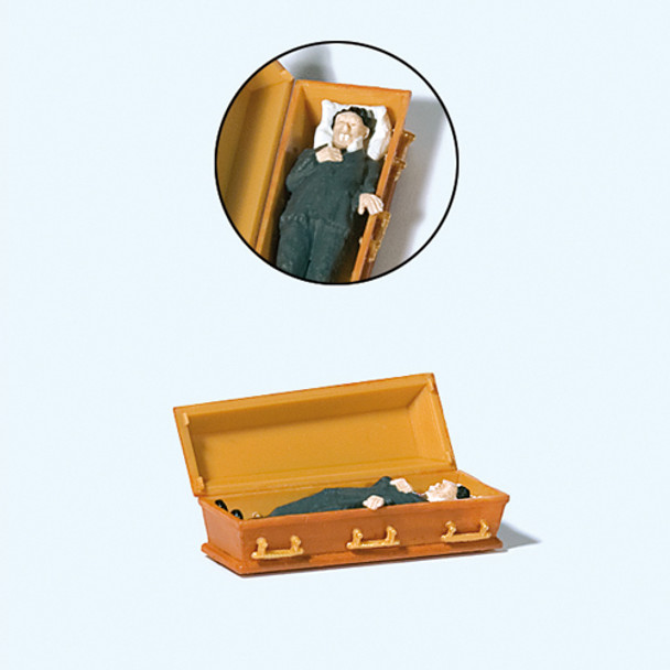 PREISER 29111 Vampire Lying In Coffin 00/HO Model Figure