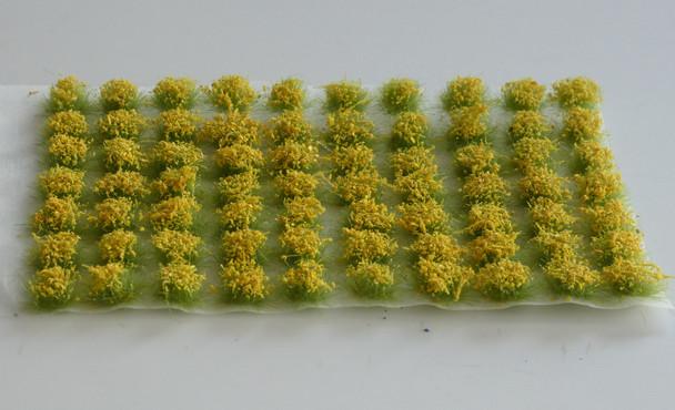 HSS 0405 - Self Adhesive 'Broom Yellow' Flowered Grass Tufts