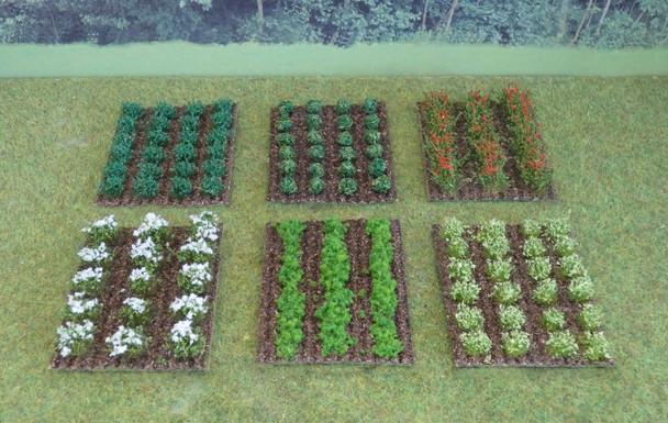 HSS VPSET1 Assorted Vegetable/Fruit Patches x 6 00/HO Gauge