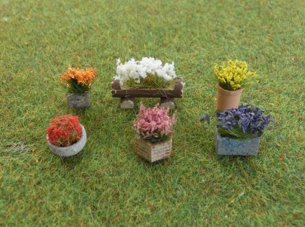 HSS FP Large Flowering Tubs (6) 00/HO Gauge