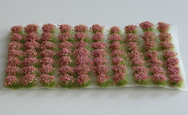 HSS 0406 - Self Adhesive 'Lilac Pink' Flowered Grass Tufts