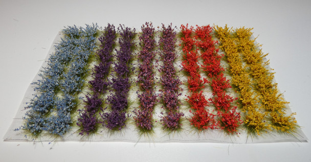 HSS 1010 - Self Adhesive Extra Large 'Mixed Colour' Wild Grass Tufts