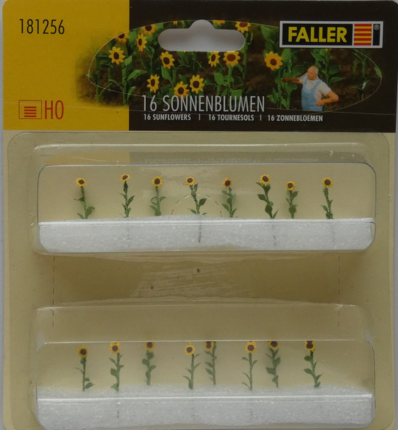 FALLER 181256 Sunflowers (16) 00/HO Model Plants