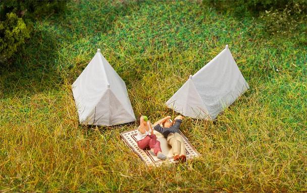 FALLER 180987 Tents (4) 00/HO Plastic Models