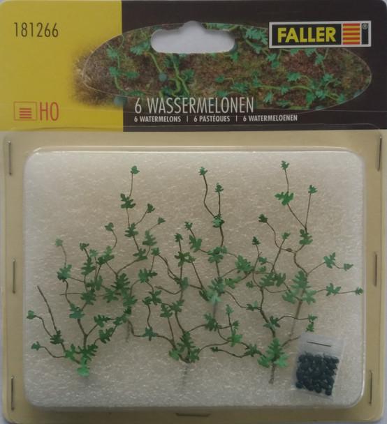 FALLER 181266 Water Melon Plants (6) 00/HO Model Plants