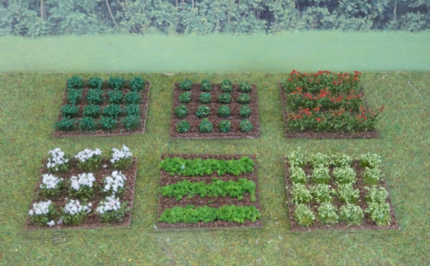HSS VPSET2 Small Assorted Vegetable/Fruit Patches x 6 00/HO Gauge