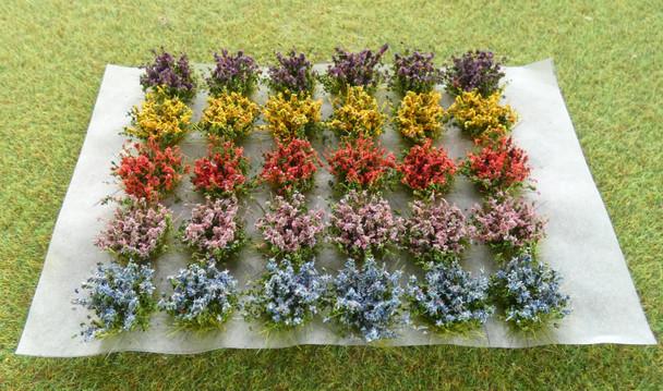 HSS FB30 - Self Adhesive Small Flowering Bushes (30) Colour Set A