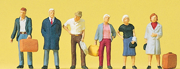PREISER 10504 Standing Passengers 00/HO Model Figures