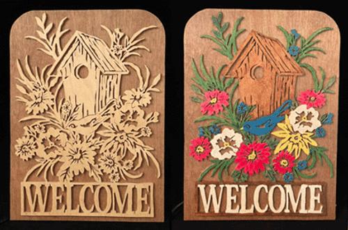 Birdhouse welcome