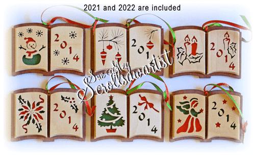 Open book ornaments