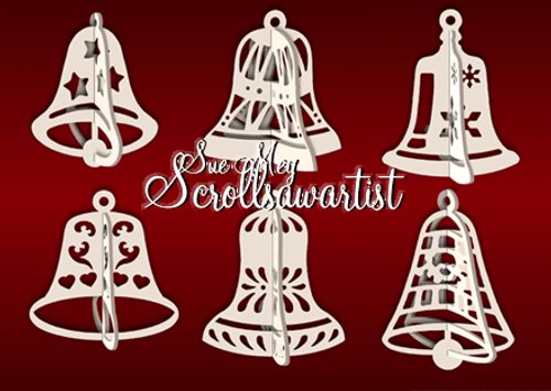 Slotted bell ornaments
