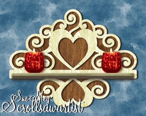 Curls & hearts shelf