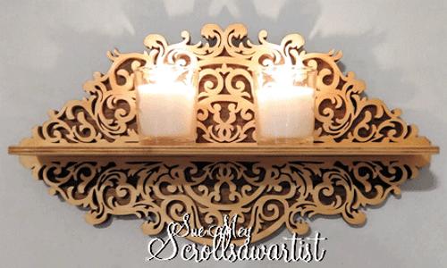 decorative scroll saw shelf