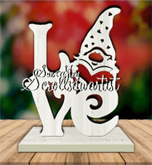 scroll saw love gnome