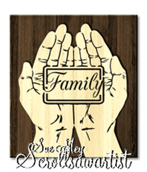 Scroll saw pattern Cupped hands - Family