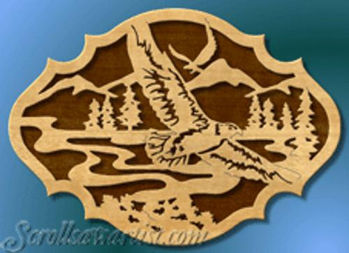 Nature scene with eagles  (BI049)