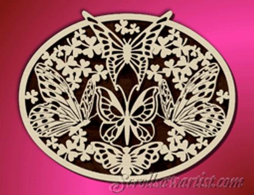 Butterfly plaque (AN052)