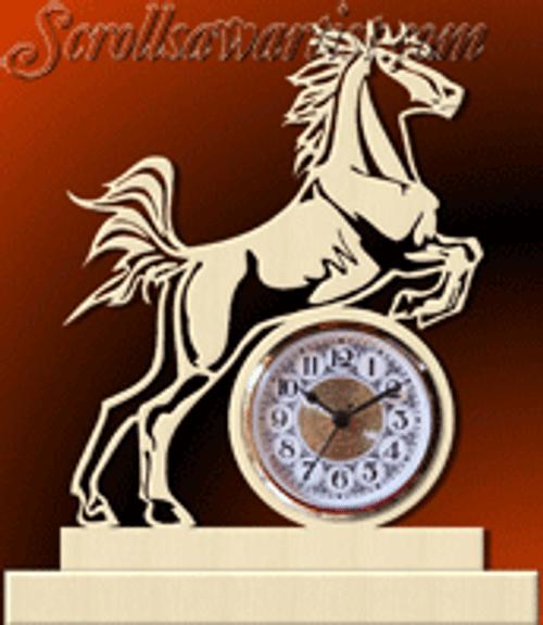 Jumping horse clock (AN035)