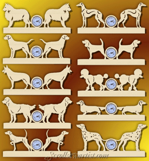Dog breeds mini clocks (DO028)