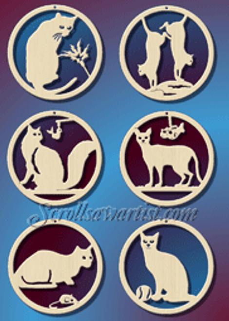 Cat ornaments (CH152)