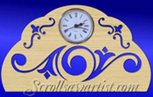 Scrolls clock  (CL004)