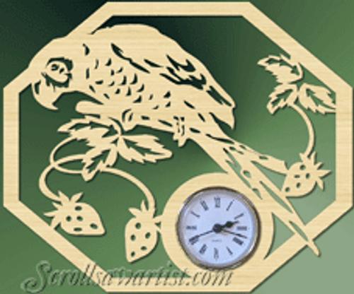 Parrot clock (CL024)
