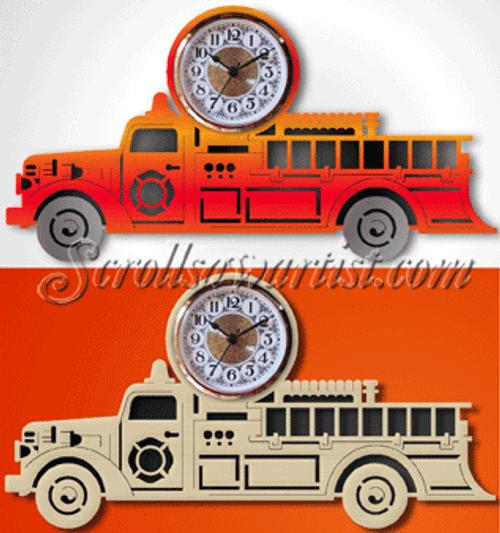 Fire engine clock  (CL094)